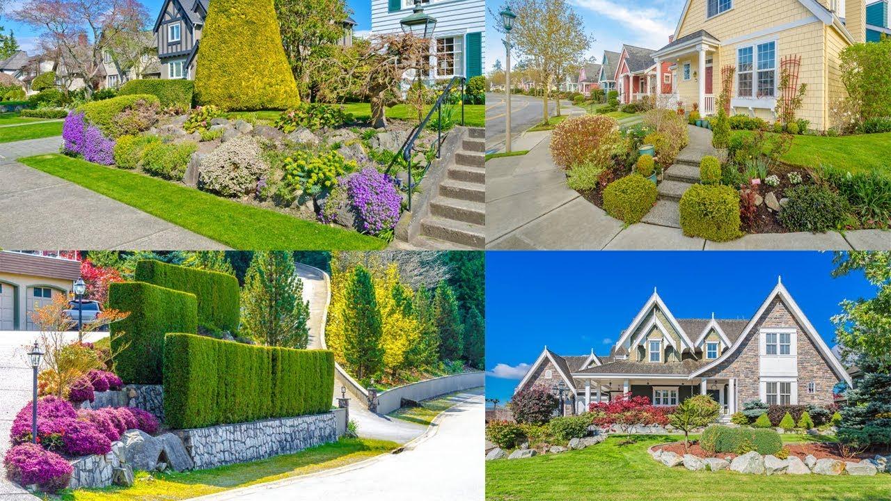 50 Inspirasi Desain Taman Depan Rumah Lahan Luas Youtube