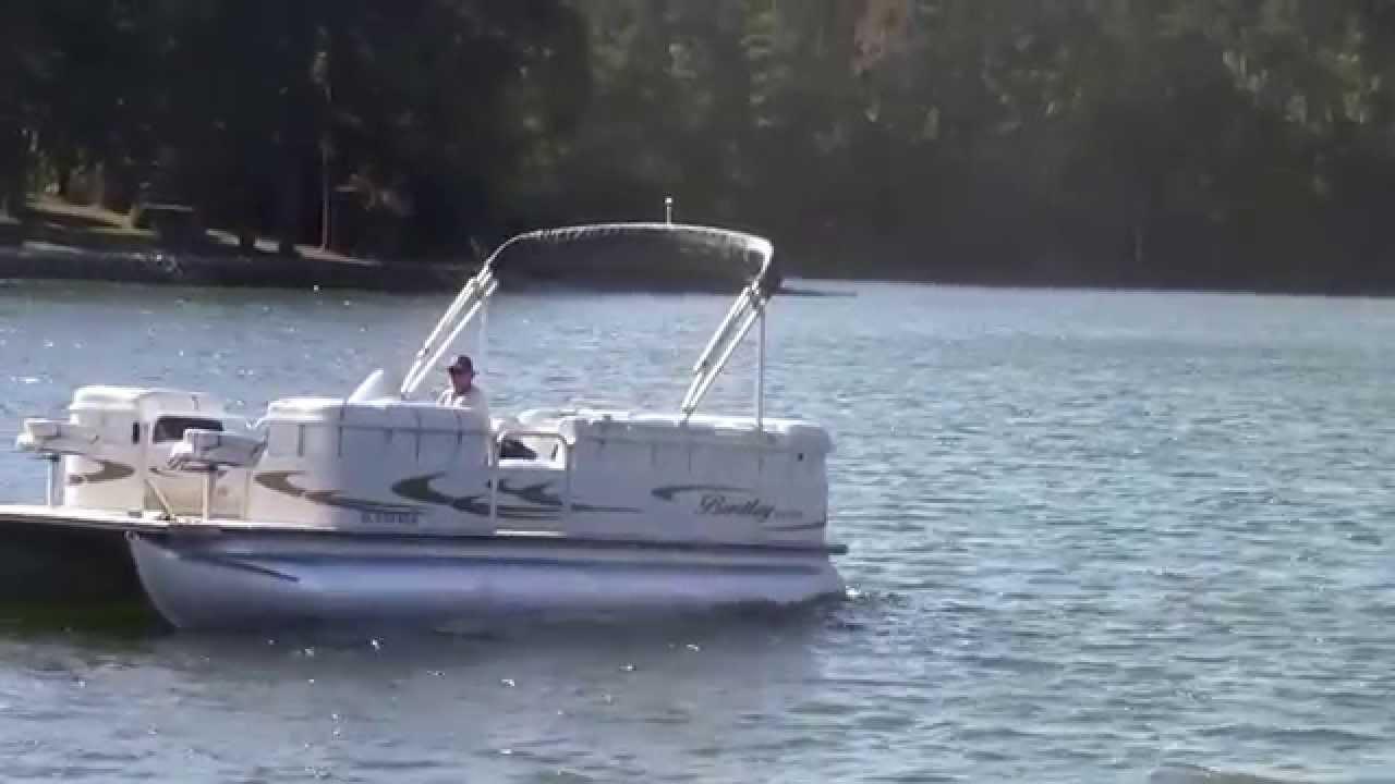 07 bentley 240 fish pontoon mercury 90 four stroke youtube for Fish without mercury