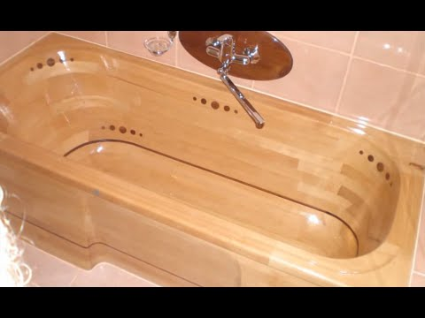 Как сделать ванную из дерева 53