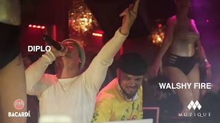Walshy Fire &amp Diplo of Major Lazer live at Muzique
