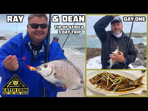 Ray & Dean's Fishing Adventure To The Tip Of Africa - PART 1 Of 3 [CATCH COOK] Cape Agulhas, ZA