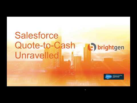 Salesforce Quote-to-Cash Unravelled - Webinar - 18th July 2017