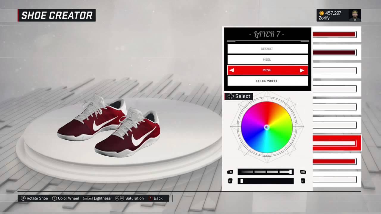 546566a1e4e9 NBA 2K17 Shoe Creator - Nike Kobe 11