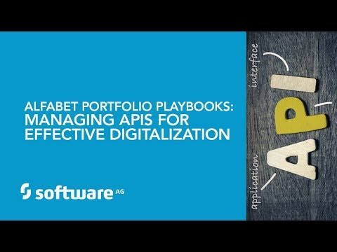 Alfabet Portfolio Playbooks: Managing APIs for Effective Digitalization