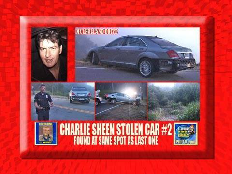 Charlie Sheen S Car Over The Cliff At Same Place As Last Time
