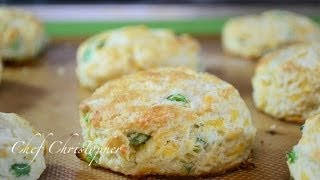 Green Onion, Garlic And Cheddar Buiscuits
