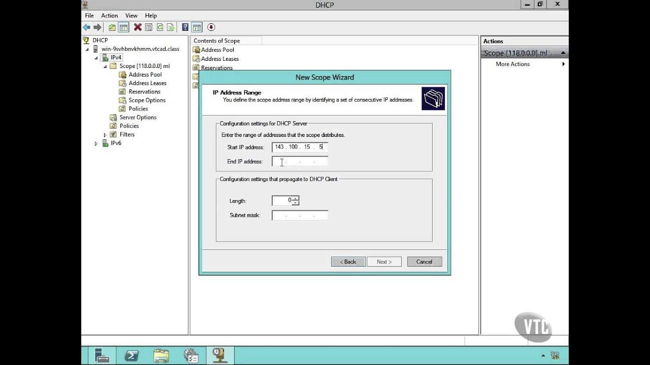 67 DHCP Server Configuration
