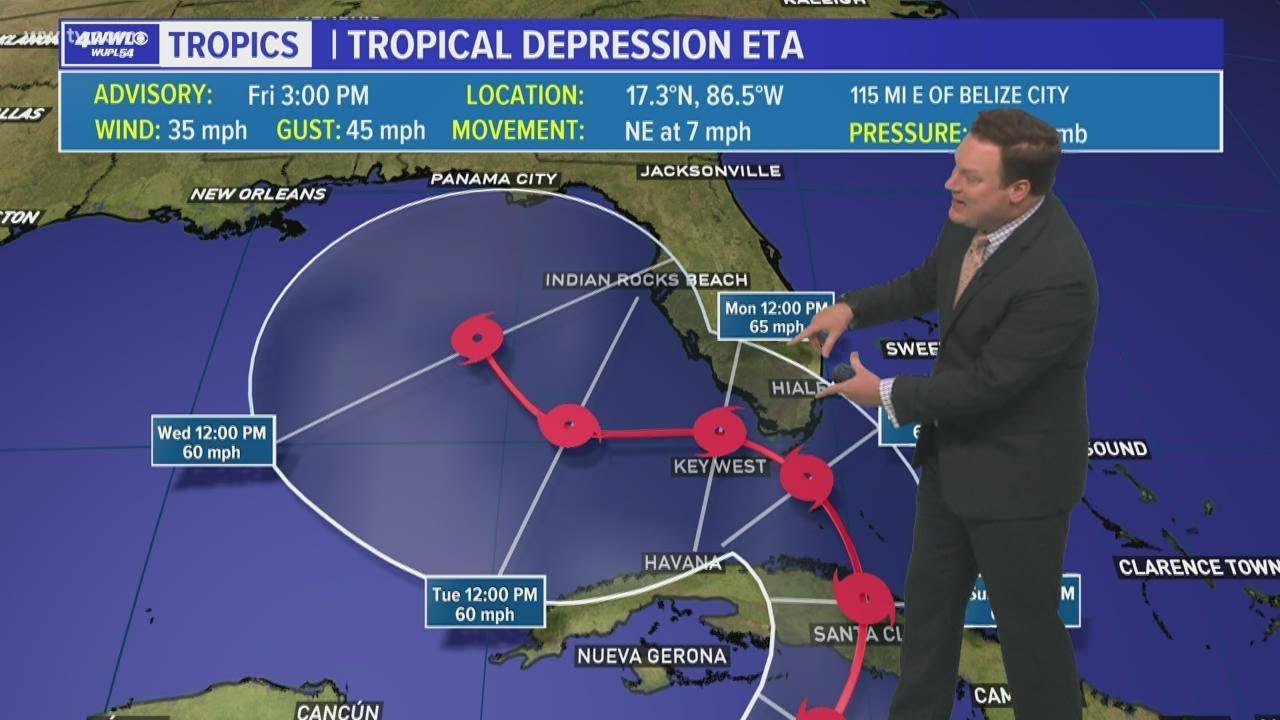 BREAKING: Eta forecast to become hurricane in Florida Straits ...