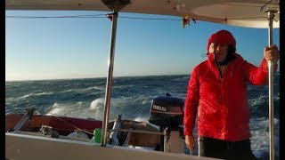 ШТОРМ в океане Идем на Яхте в Гибралтар не прорваться   КАПИТАН КОСТЯ