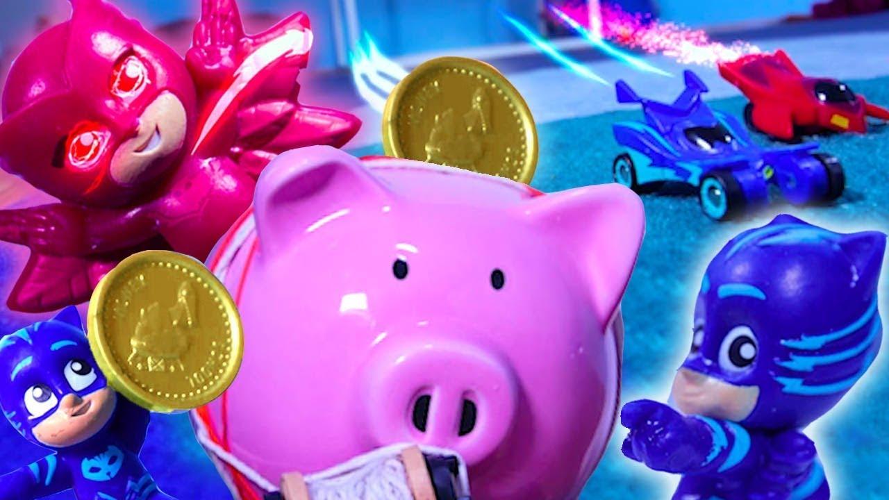 Romeo klaut ein Sparschwein ⚡ PJ Masks Deutsch 🌟 Spielzeug für Kinder | Pyjamahelden