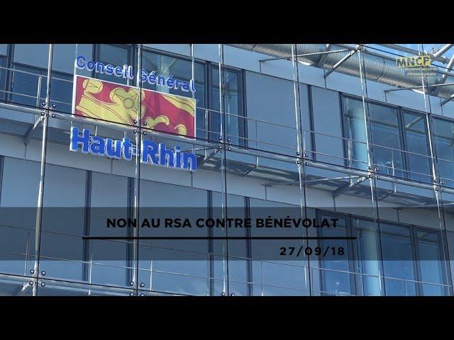 Non au RSA contre bénévolat (MNCP) | 27/09/18