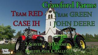 Team Case IH vs Team John Deere - Multiplayer Throwdown - Farming Simulator 19
