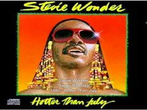 Stevie Wonder Happy Birthday Song 1980 Hotter Than July
