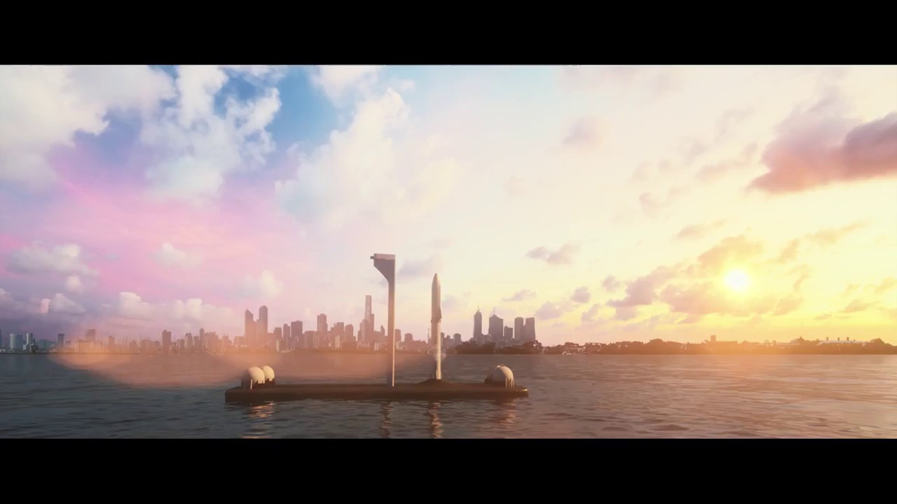 space x elon musk proposes city to city travel by rocket bfr beyond hyper loop