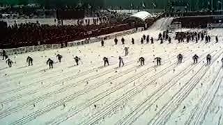 Лыжные гонки. Чемпионат мира 1974. Фалун. Эстафета 4х10. Мужчины. Документальная съемка