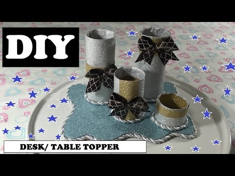 DIY Crafts For Your Desk or Table using Empty Toilet Paper Rolls  #08