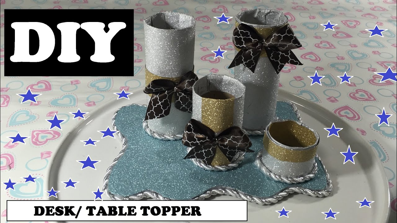 Diy Crafts For Your Desk Or Table Using Empty Toilet Paper