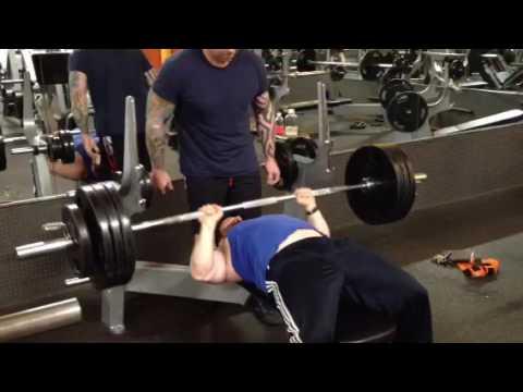 385 Pound Bench Press 7 Reps 200 Pound Bodyweight Youtube