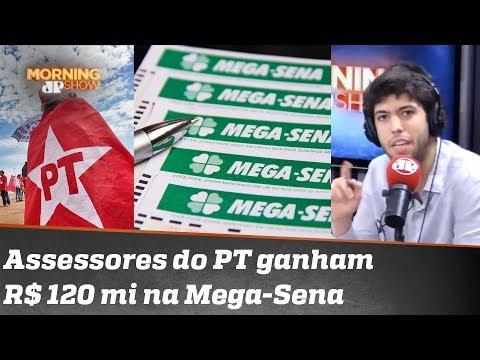 """Assessores do PT ganham na Mega-Sena: """"Não espere que dinheiro seja socializado"""" diz Coppolla"""