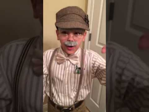 Old Man Costume for 100th day of school , YouTube