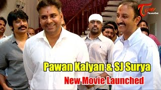 Pawan Kalyan and SJ Surya New Movie Launch