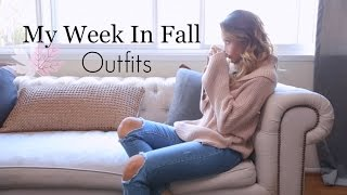 My Week In Fall Outfits