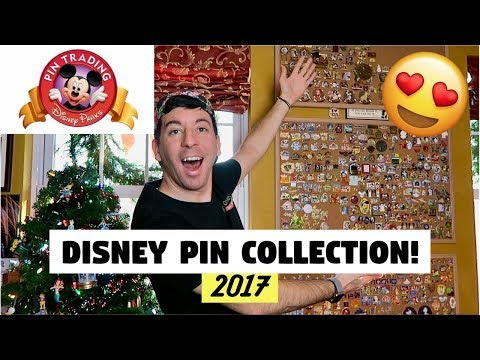 MY ENTIRE DISNEY PIN COLLECTION! | 2017