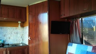 Внутри самодельного прицепа каравана (trailer, camper, caravan)