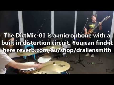 DirtMic 01 on Vocals in a Rehearsal Room (phone audio and video)
