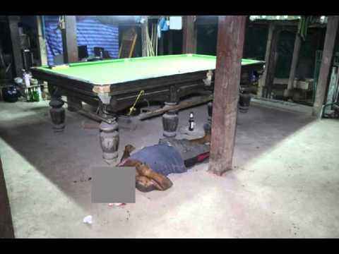 2 วัยรุ่นโหด บุกแทงนักเล่นสนุกเกอร์รุ่นใหญ่ตายคาโต๊ะ