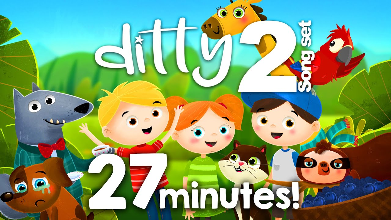 DITTY SONG SET 2 – 27 minutes of songs @Ditty - Songs for kids  Animated nursery rhymes for children