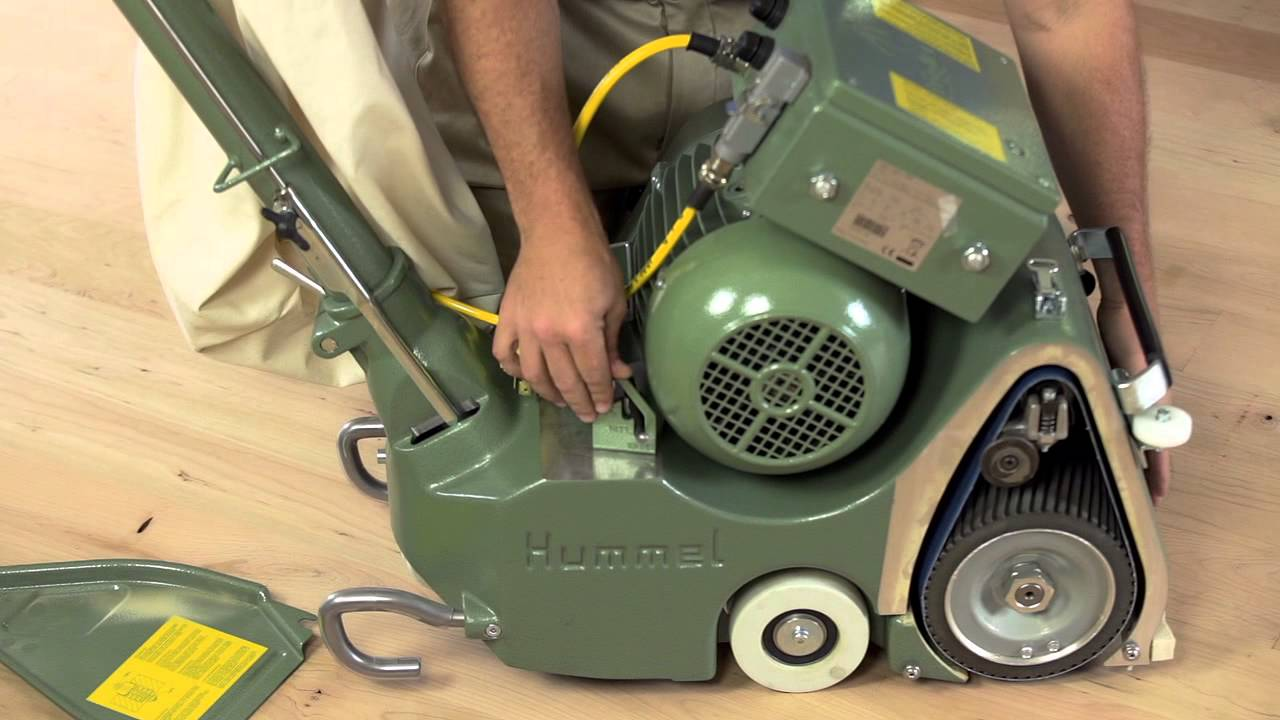 Lagler HUMMEL 8 Belt Floor Sander  YouTube