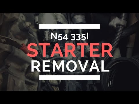 BMW 335i N54 Starter Replacement DIY