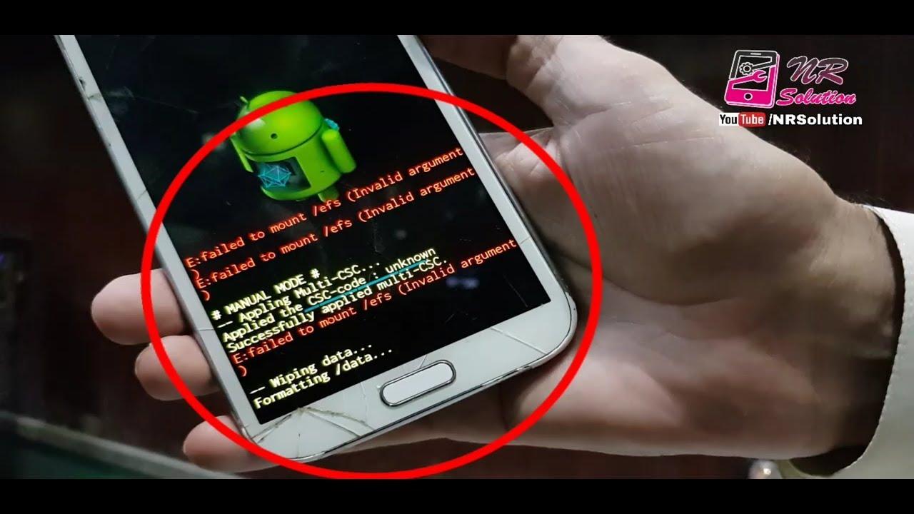 Samsung Gt-N7100 Hang Logo E:failed to mount/efs Fixed