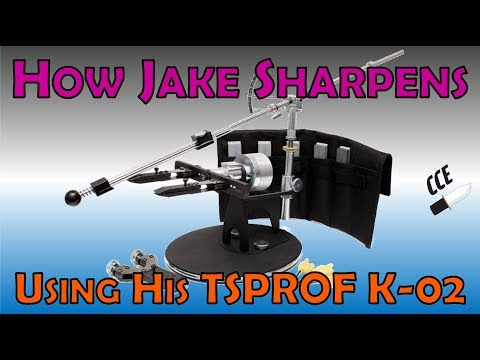 How Jake SHARPENS Knives on the TSPROF K-02 System