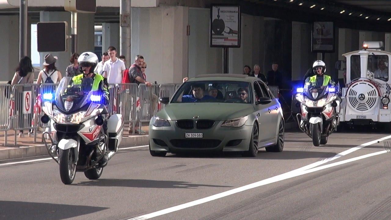 Police Vs Supercars In Monaco Youtube