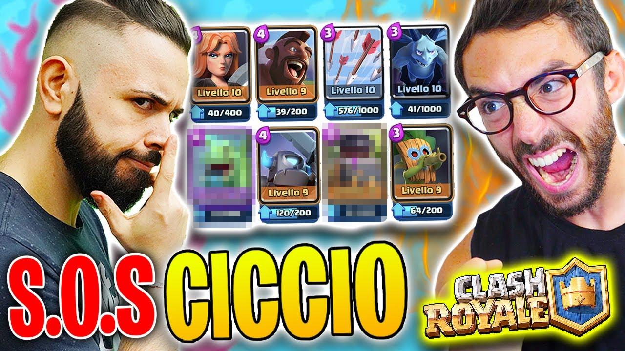 CICCIO MI INSEGNA A SCALARE! (NUOVO DECK) Clash Royale w/Cicciogamer89
