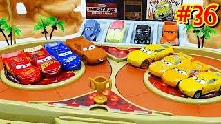 Cars 3 Toys Crazy 8 Demolition Derby Tournament vol.36  4 Lightning McQueen VS 4 Cruz Ramirez