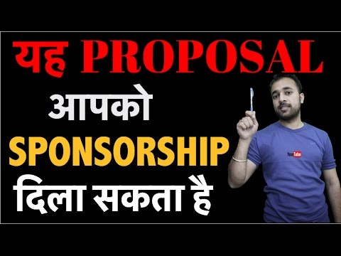 How To Write A Proposal For Sponsorship On Famebit Increase