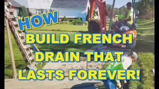How To Build a French Drain That Lasts FOREVER