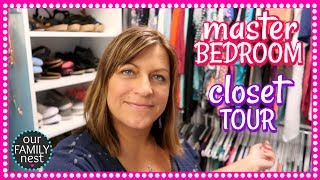 master bedroom closet tour moving vlog day 11