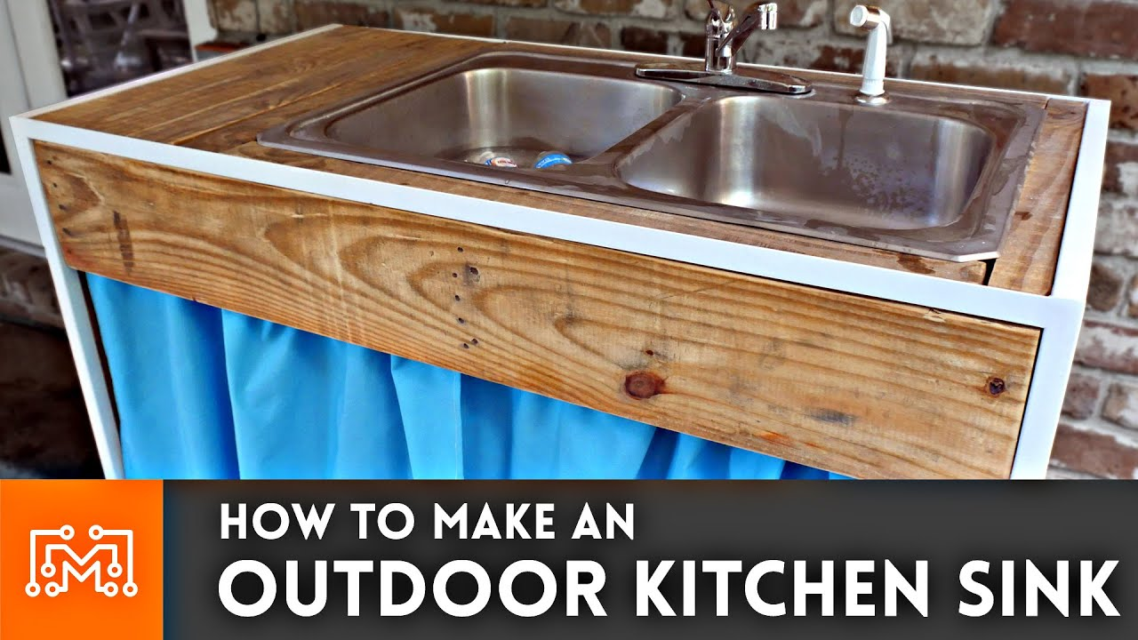 Outdoor Kitchen Sinks Outdoor kitchen sink woodworking metalworking sewing how to outdoor kitchen sink woodworking metalworking sewing how to youtube workwithnaturefo