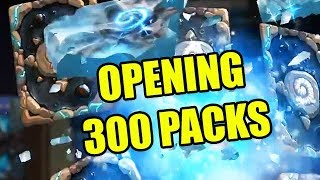 OPENING 215...no, 250... no, 300 HEARTHSTONE: KNIGHTS OF THE FROZEN THRONE PACKS