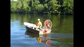 Running the Dragonfly outboard motor 2