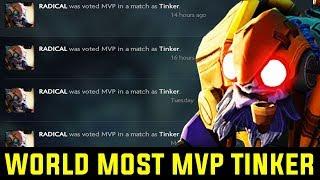 The Reason Why EveryOne Vote Him Mvp - World Most Mvp Voted Tinker Radical Dota 2