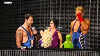 Raw - Miss Piggy & Kermit the Frog encounter Vickie Guerrero & Jack Swagger