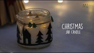 DIY Christmas Candle Jar | Christmas Crafts | Mason Jar Craft