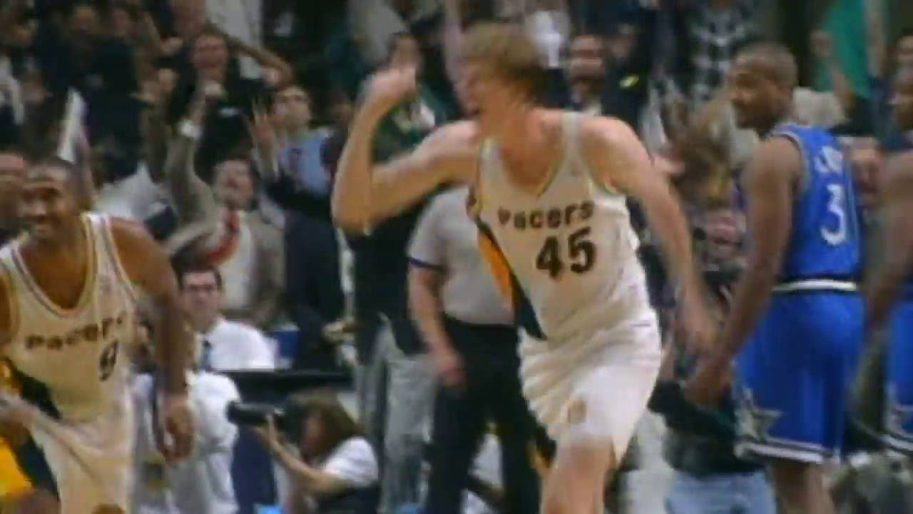 Memorial Day NBA Vault 1995 Magic vs Pacers Rik Smits Hits The