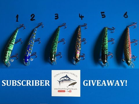 SUBSCRIBER GIVEAWAY   | CUSTOM MADE LURES |