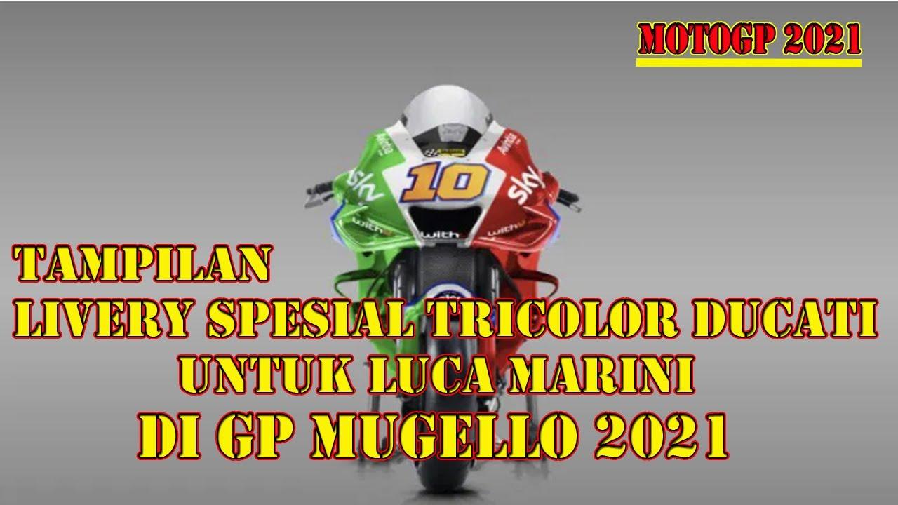 Tampilan Livery Spesial Untuk Adik Rossi Luca Marini Di Gp Mugello 2021 Youtube